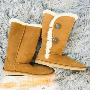 Sonoma Flat Suede Fur Lined Boots Size 9M